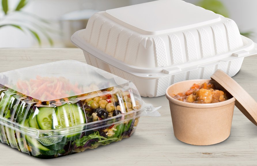 Obaly na jedlo z ekologicky odbúrateľných materiálov